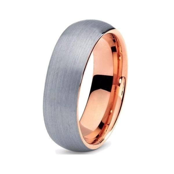 Rose Gold Brushed Tungsten Band Wedding Things Weddings And