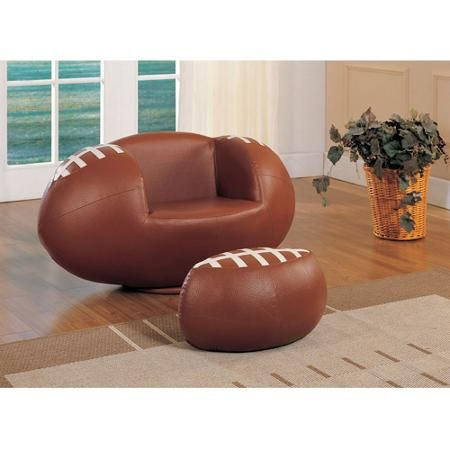 Miraculous Acme All Star Football 2 Piece Chair And Ottoman Set The Unemploymentrelief Wooden Chair Designs For Living Room Unemploymentrelieforg