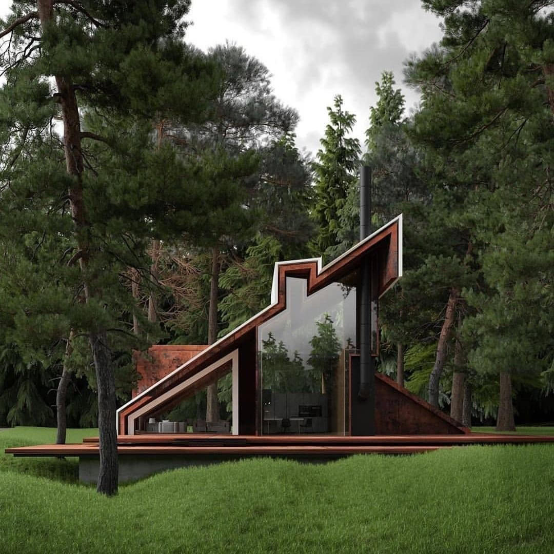 Great House in the woods