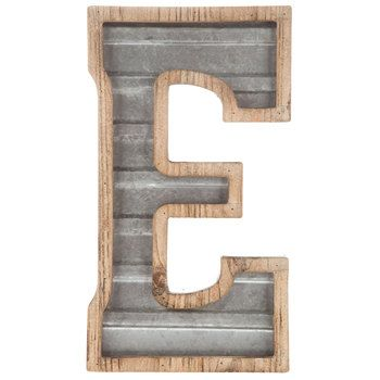 Wood Galvanized Metal Letter E Metal Letters Metal Letters Hobby Lobby Metal Wall Letters