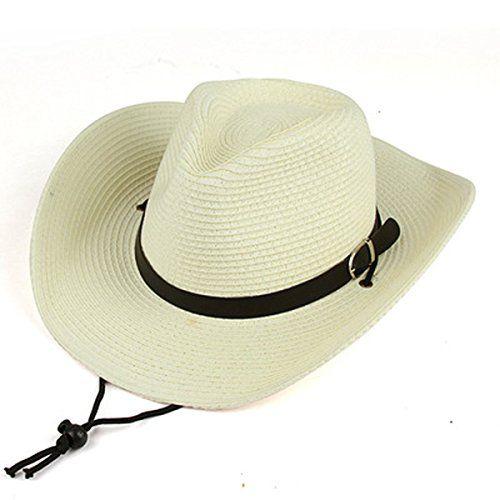 02d4bb24a91ff0 AOBRITON Men and Woman Summer Straw Cowboy Hat Folding Beach Hat Large  Brimmed Hat, Sun Cap,Bucket Hat 5 Colors