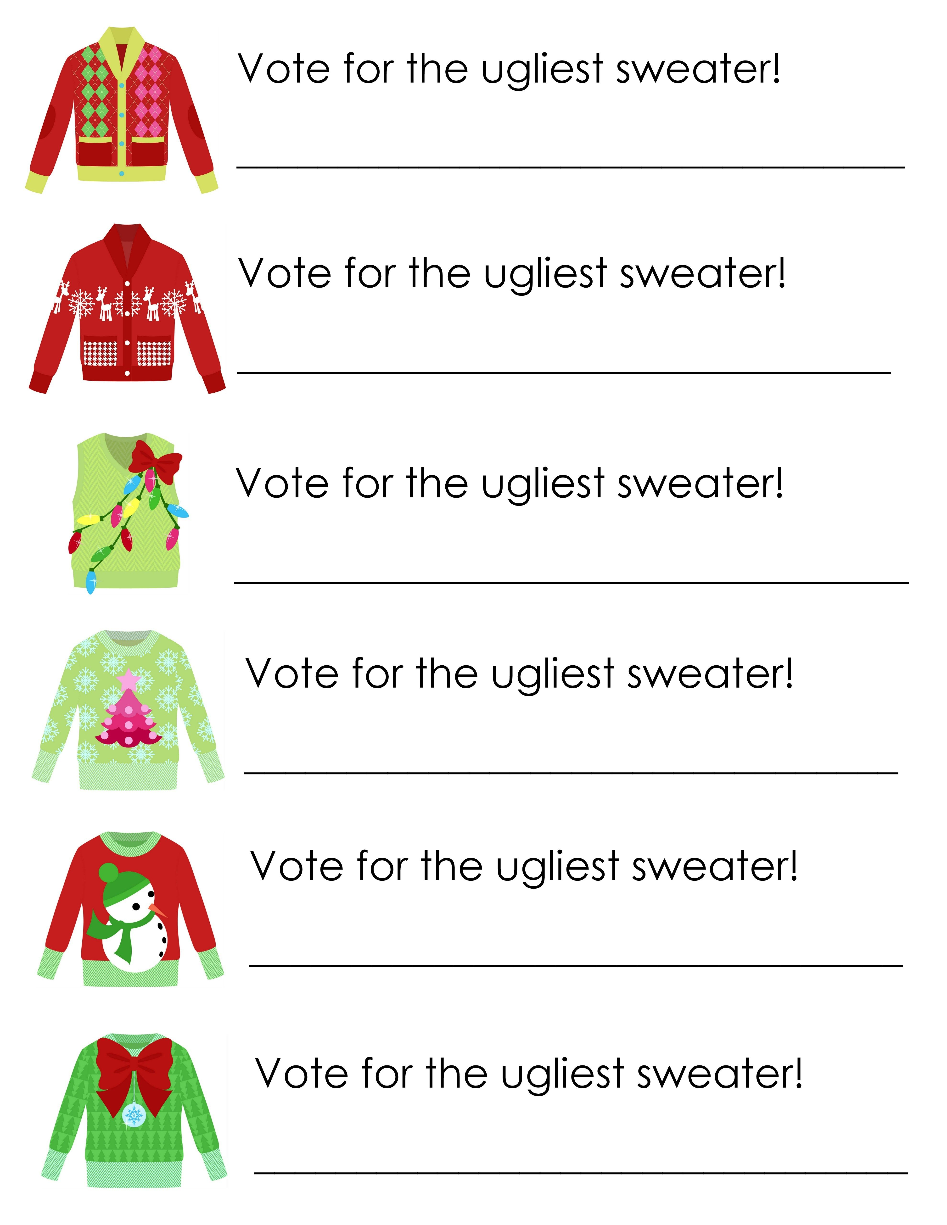 ugly sweater party printables party printables printable party pack for your ugly sweater party grab invitations awards and more