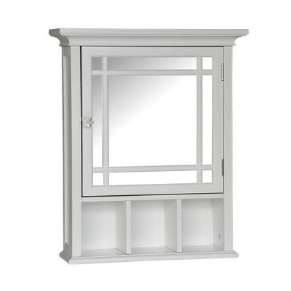 Target Medicine Cabinet Pleasing Elegant Home Fashions Neal Wall Cabinet  White  Elegant Walls And Design Inspiration