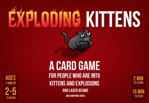 Twitch Tv Drtechmd Exploding Kittens Board Game Giveaway Ends April 10 2017 Exploding Kittens Exploding Kittens Card Game Card Games