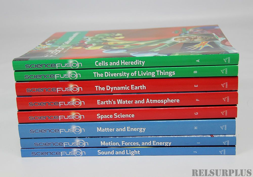 Holt McDougal Science Fusion Grade 6-8 Lot 8 Student Edition