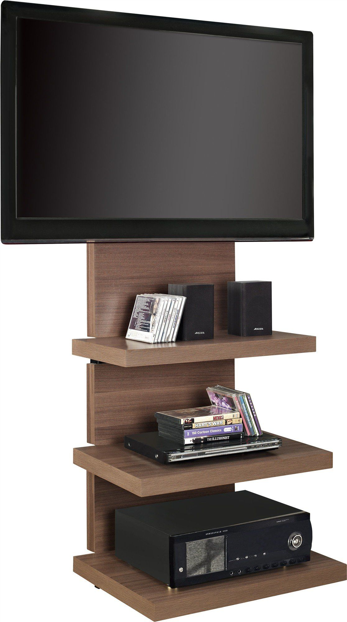 Altra furniture hollow core altramount tv stand with mount for tvs