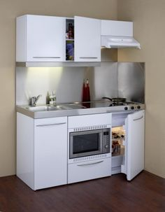 compact kitchens for small spaces - Google Search | Small ...