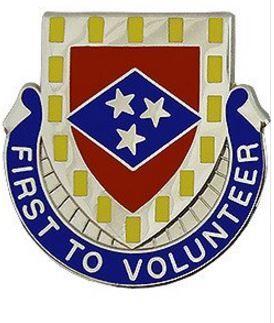 30th Finance Battalion Unit Crest (First to Volunteer)