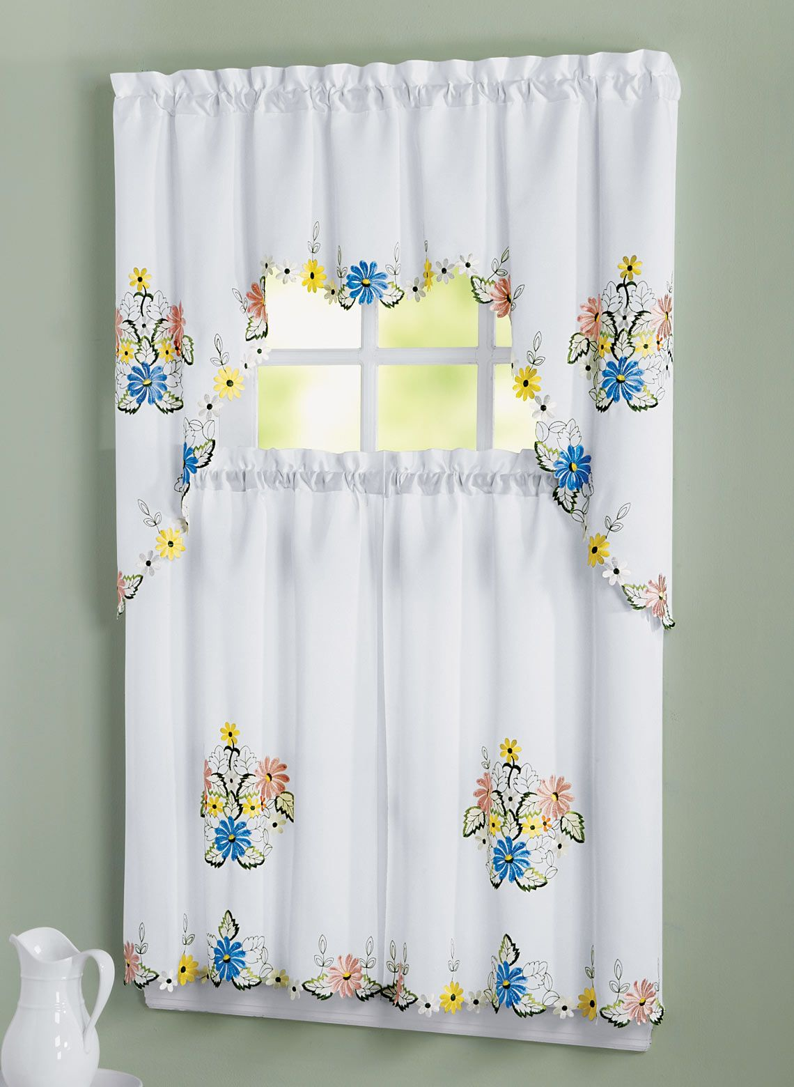e8a1bd5011397074df8a254345316ec1 - Better Homes And Gardens Ivy Kitchen Curtain Set