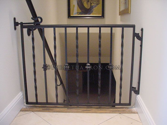 Marvelous Gates For Stairs #13 - Baby Gates For Stairs With Wrought Iron