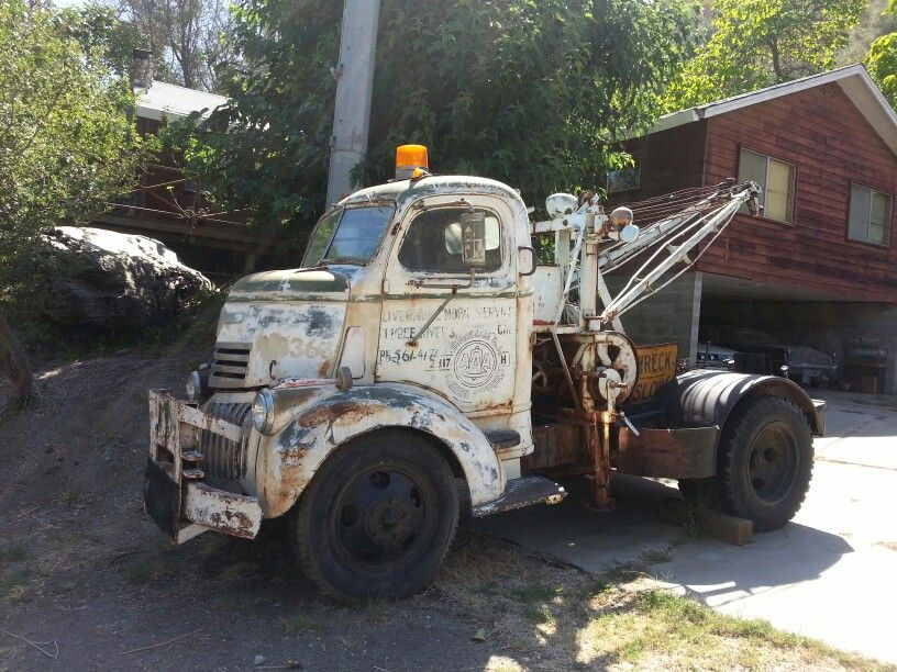 Old tow truck cab over. www.TravisBarlow.com Towing Insurance and ...