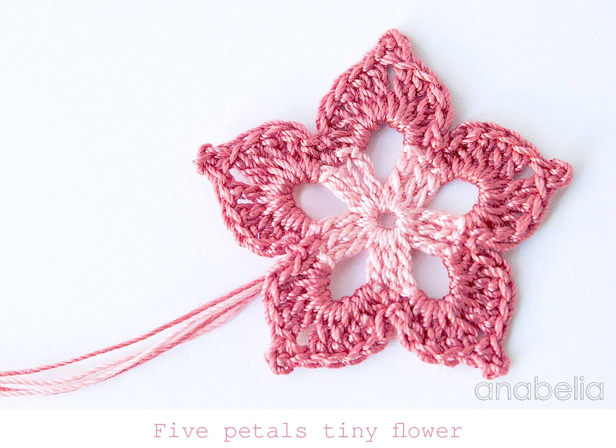 Five Petals Tiny Crochet Flower By Anabelia Crochet2 Pinterest Rose Flores Crochetflowers Pretty Diagram Craft Design Crocheting Flowers For New Diy Spring Projects