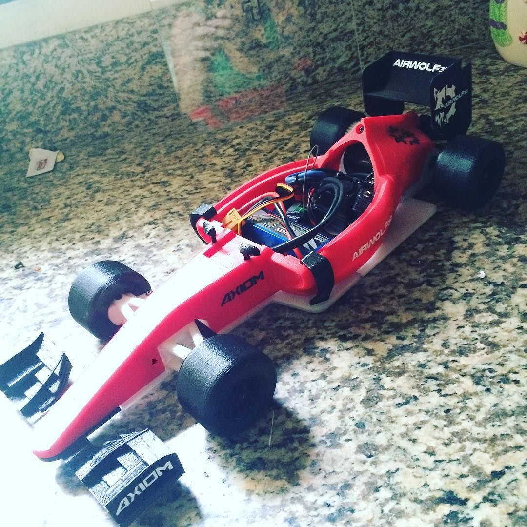 3D printed RC car. Tyler made 3 this weekend #3dprinting #airwolf3d by love__breee