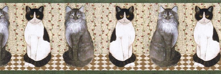 Details about Cindy Sampson CATS Wallpaper Border AFR7104
