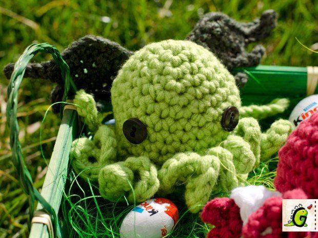 Crochet Cthulhu Egg Cozy Pattern Crochet Egg Cozy Pinterest