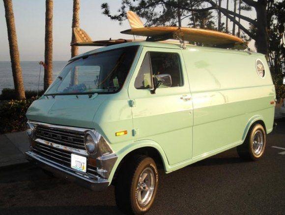 Perma Stoke Seafoam 1974 Ford Econoline Van Vans Vintage Vans