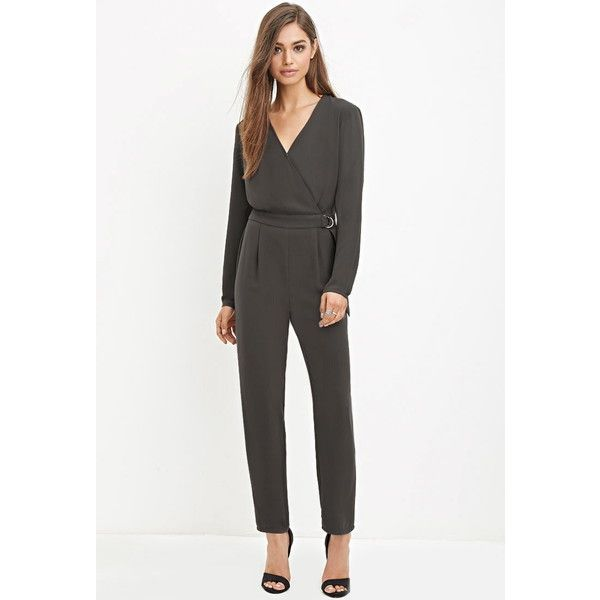 Forever 21 Womens D Ring Surplice Jumpsuit 28 Liked On