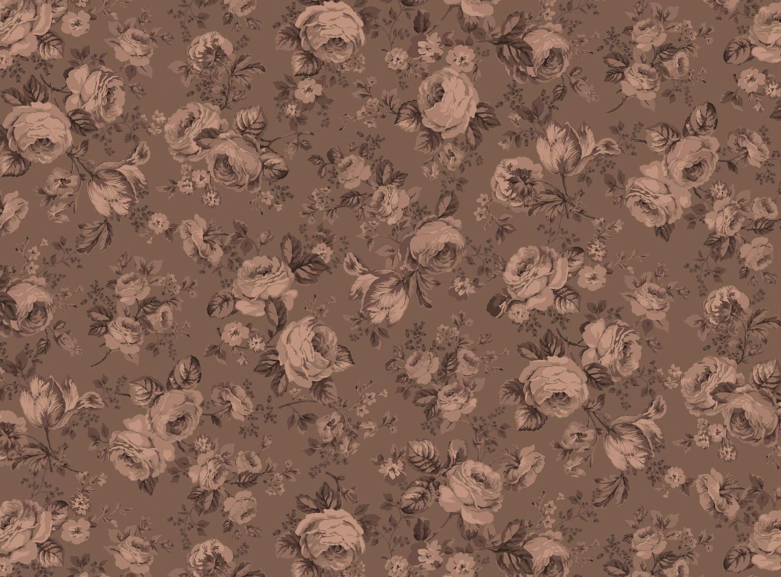 Michele's Rose by Michele D'Amore for Benartex - Wide Michele's Rose - Cocoa
