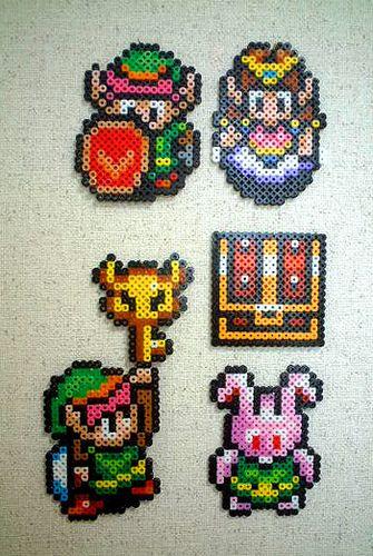 Nintendo Ohrringe Aus Bugelperlen Rubine Zelda Triforce Etsy