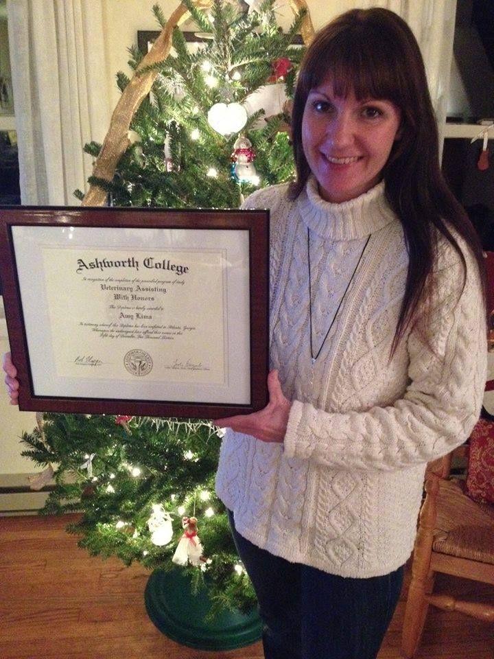 A graduate of our Veterinary Assisting Program, Amy