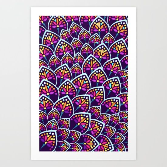 Madeleine Pattern Art Print by TotalBabyCakes. Worldwide shipping available at Society6.com. Just one of millions of high quality products available.
