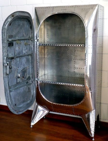 reclaimed cabinet from airplanes aero 1946 project airplane decoraviation - Aviation Decor