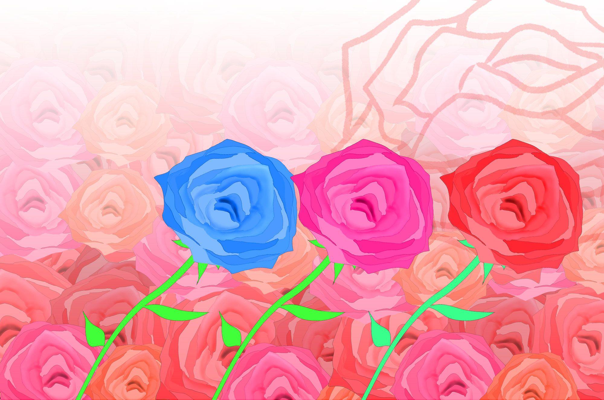 バライラスト 可愛い薔薇とアートな花の無料素材集 チコデザ バラ イラスト イラスト 可愛いイラスト