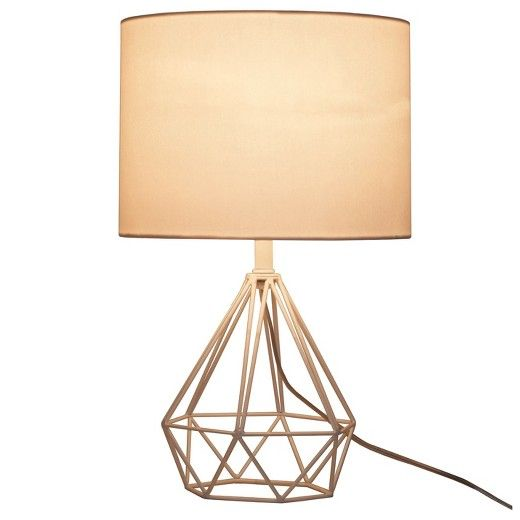 Tie Your Whole Space Together With This Diamond Wire Table Lamp With Painted White Base From Threshold 153 Trendy And C Table Lamp Geometric Table Lamp Lamp