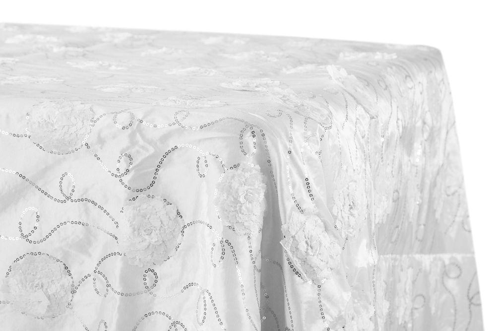 Flower On Sequin Taffeta Rectangular Tablecloth 90