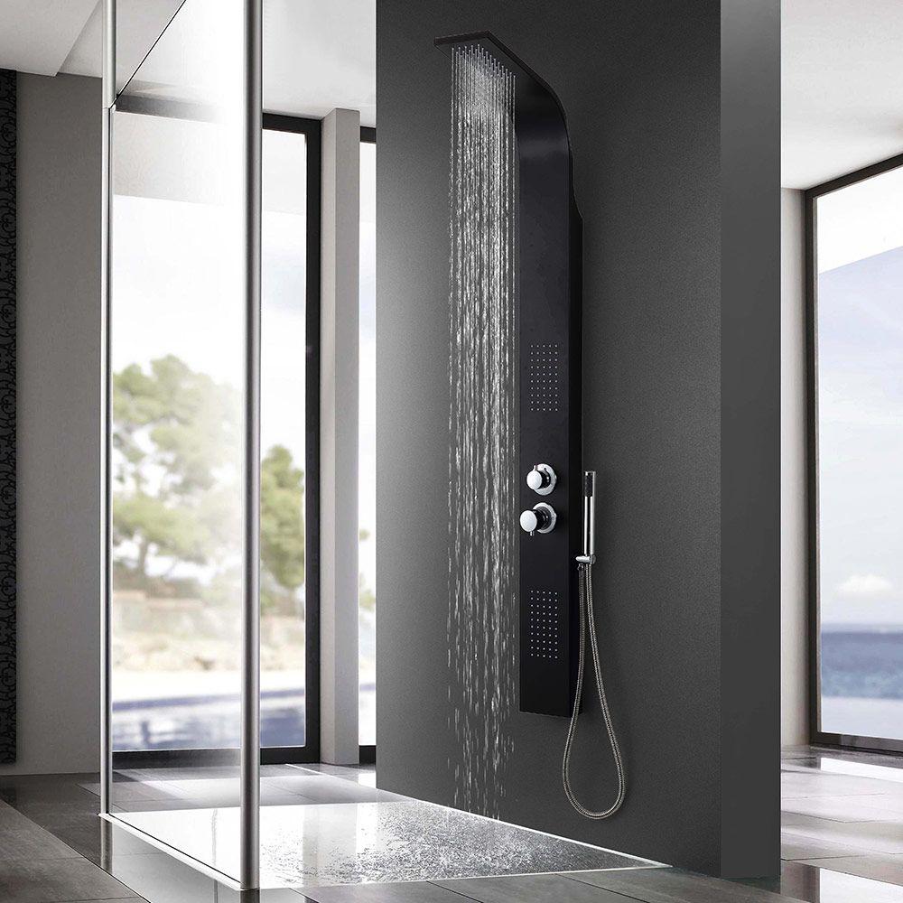 details zu neuhaus led duschset duscharmatur handbrause duschbrause regendusche duschsule - Regendusche Set