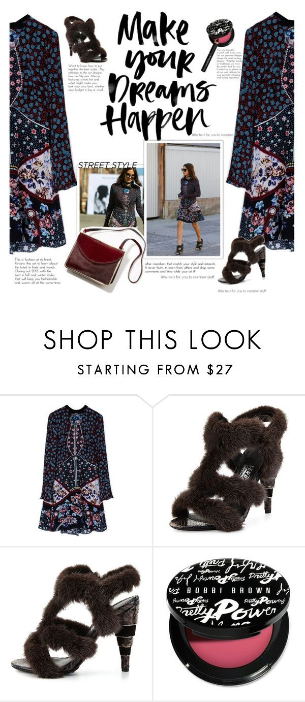 """Make your dreams happen"" by naki14 ❤ liked on Polyvore featuring Mary Katrantzou, Salvatore Ferragamo, Bobbi Brown Cosmetics and Givenchy"