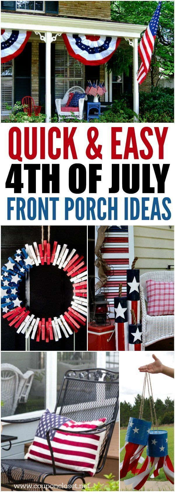 4th of July Front Porch Ideas- Patriotic front porch ideas for the 4th images