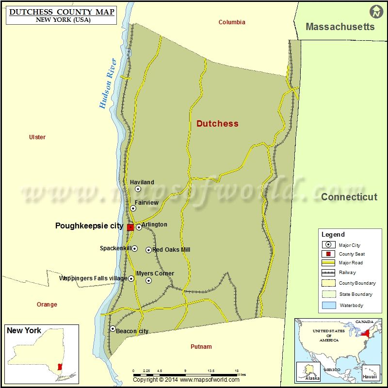Dutchess County Map For Free Download Printable Map Of Dutchess