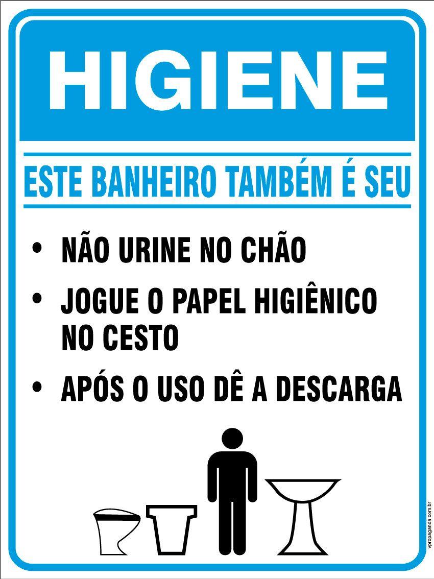 Placas E Avisos Para Banheiro Com Imagens Avisos De Banheiro
