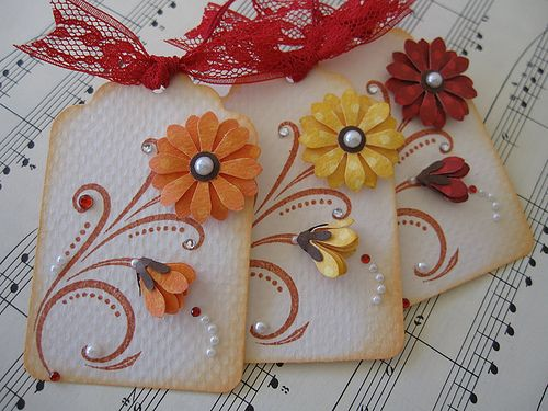 Scroll design Autumn Flower Tags   Flickr - Photo Sharing!
