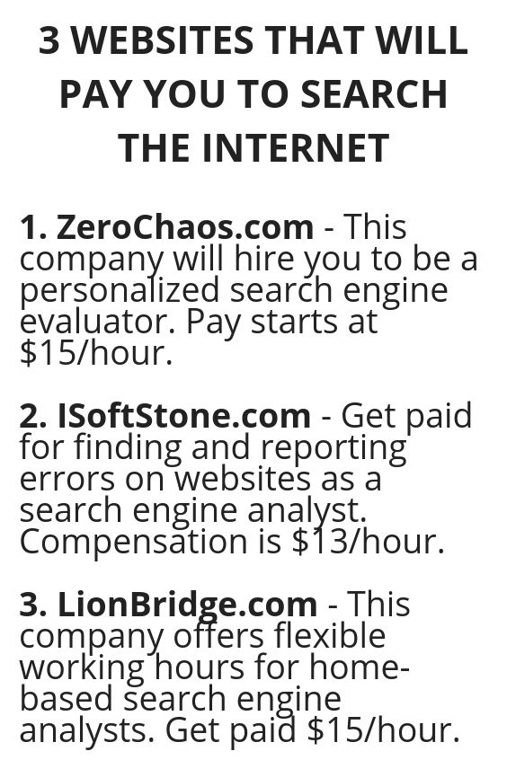 3 WEBSITES THAT WILL PAY YOU TO SEARCH THE INTERNE