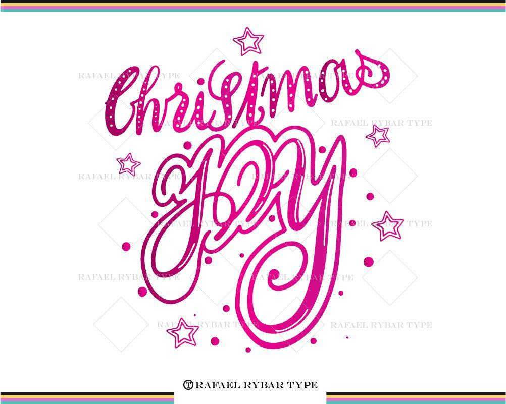 Christmas Joy SVG, Christmas lettering file, Handlettering ...