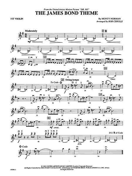 The James Bond Theme: 1st Violin | Violin♡ | Pinterest | James bond ...