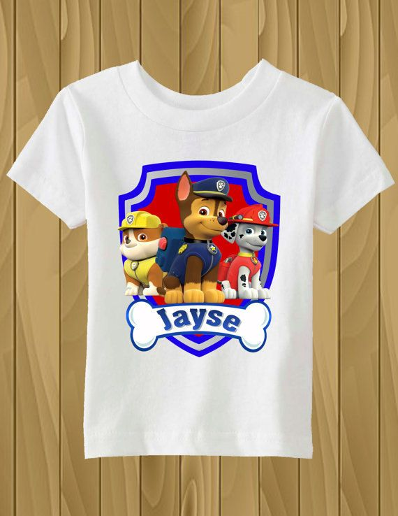 fce128d4a Paw Patrol Personalized T-Shirt Iron On Transfer by tshirtirononshop on Etsy