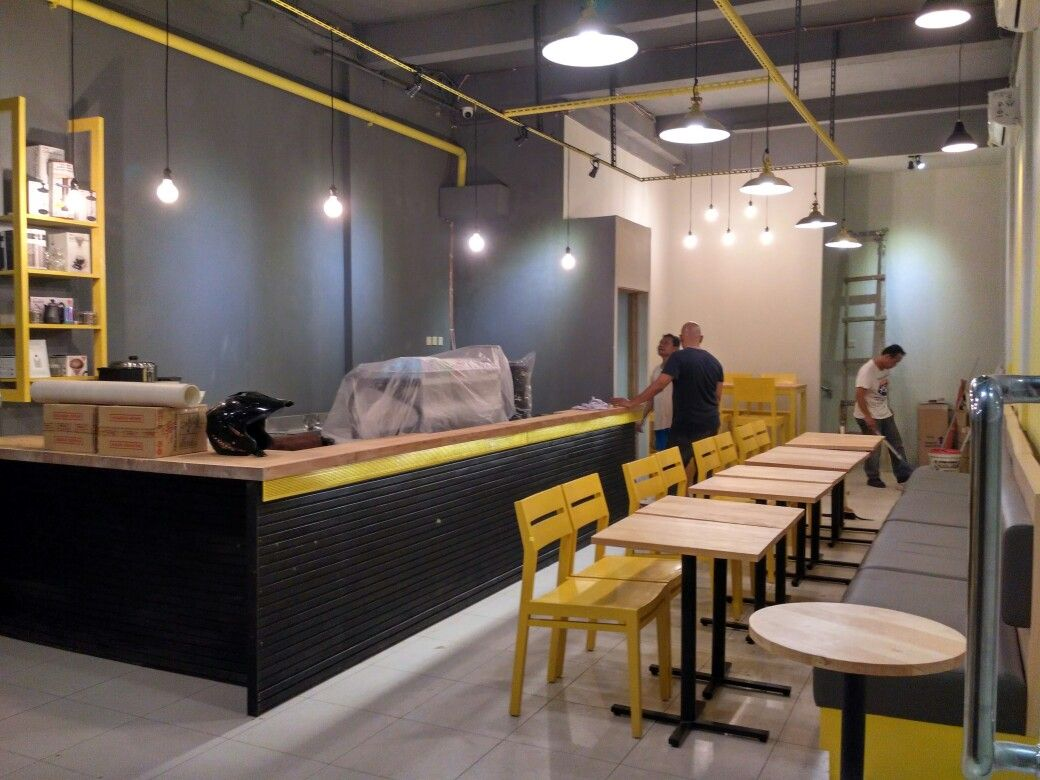 Yellow Shop Brand New Coffee Shop Interior And Exterior Designed By