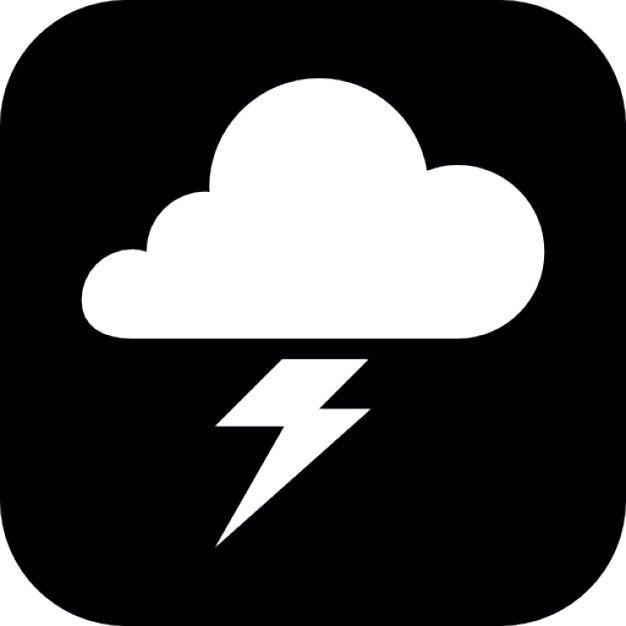 Freepik Graphic Resources For Everyone Black And White Instagram Symbols Lightning Cloud