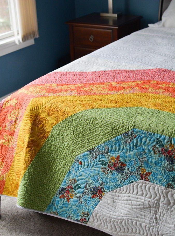 A GIANT Giant Rainbow Quilt! (and what went wrong) - crafterhours