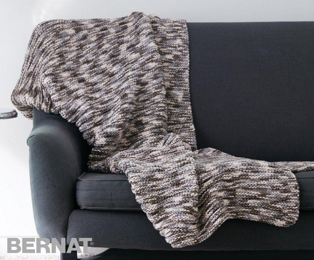 Ridges Blanket in Bernat Maker Home Dec Variegated. Discover more ...