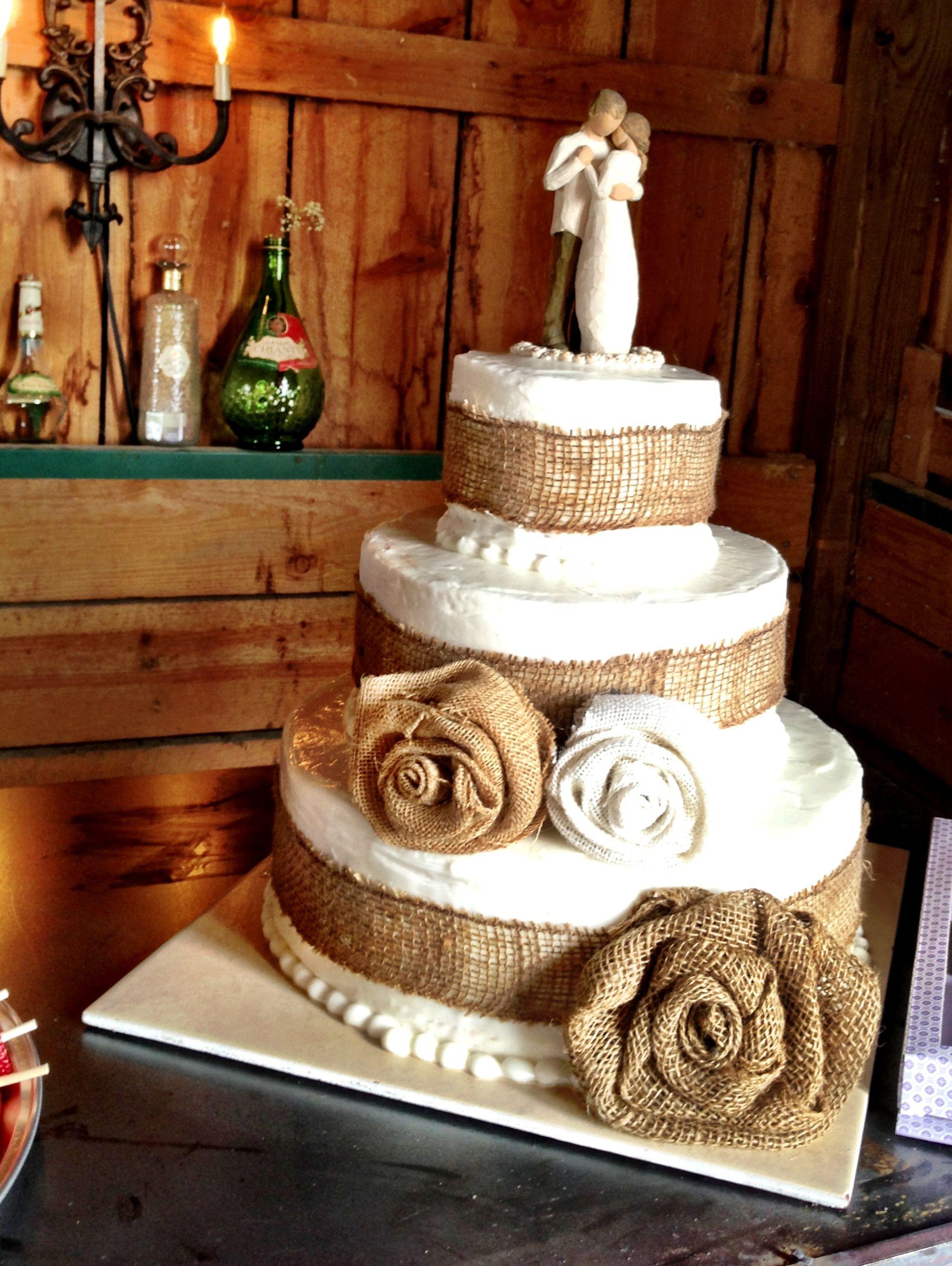 Rustic Chic Wedding Cake Decor Ideas