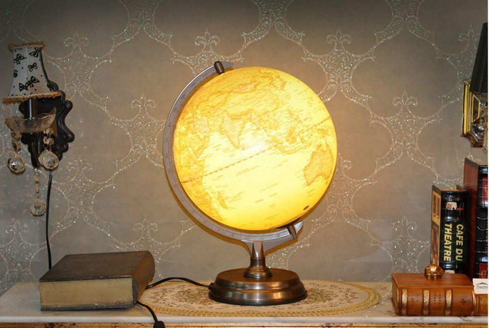 Antique Style Table World Globe Lamp Desk World Night Globe Stand Map Lighted World Globe Lamp Globe Lamps Lamp