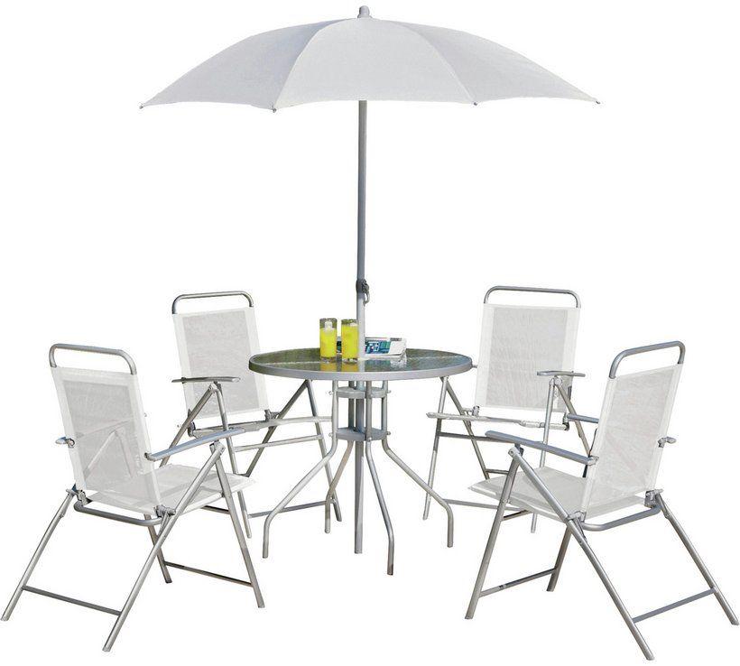 Argos Metal Garden Table And Chairs: Buy Argos Home 4 Seater Metal Patio Set - Silver