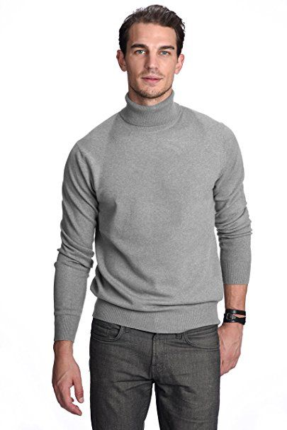 64a6c2ff39a State Cashmere Men s 100% Pure Cashmere Turtleneck Long Sleeve Pullover  Sweater