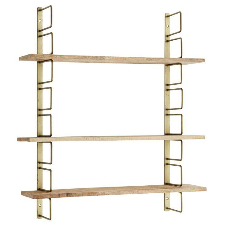 Etagère Modulable Métal Et Bois Deco Shelves Wooden Shelves Et