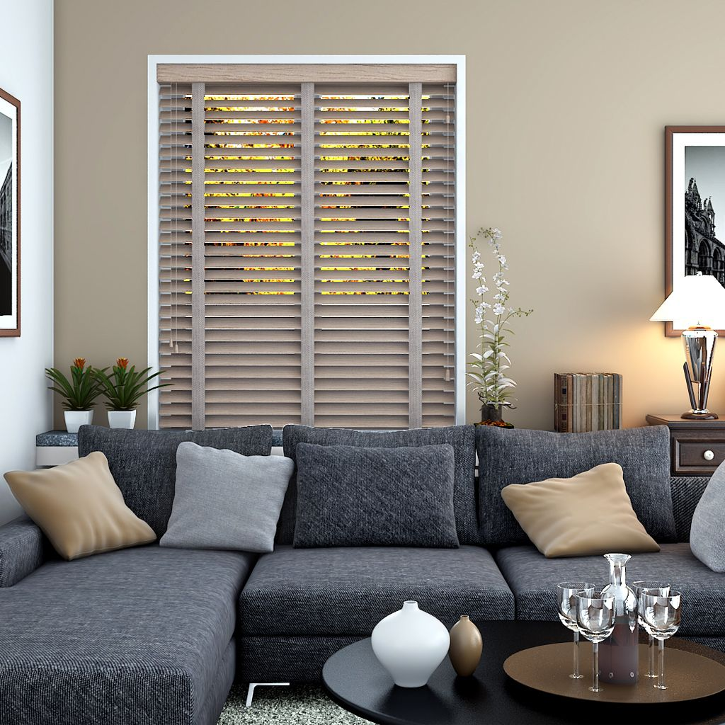 Acacia Grey Wooden Venetian Blind Made To Measure Blinds Online From Make My Blinds Blinds For Windows Living Rooms Wooden Blinds Blinds