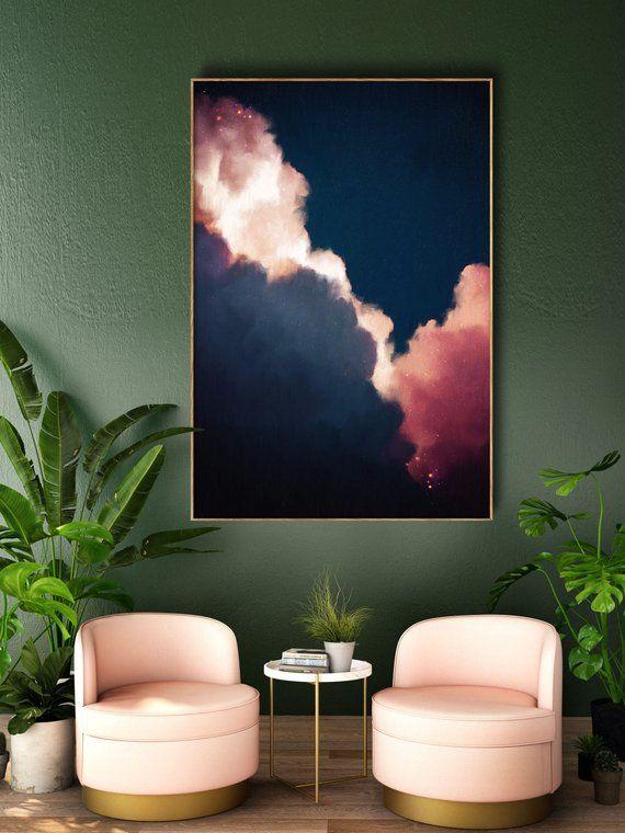Abstract Art, Cloud Painting Print , Cloud Print , Cloudscape Art Print , Large Wall Art , Abstract Wall Art , Cloud Art READY TO HANG